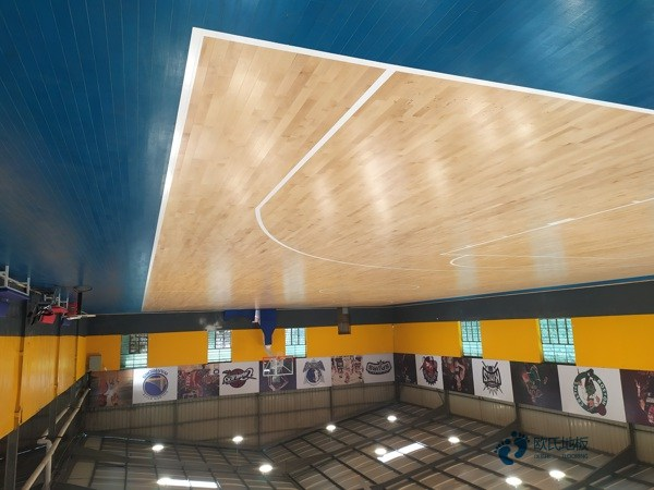 进口体育馆木地板图片