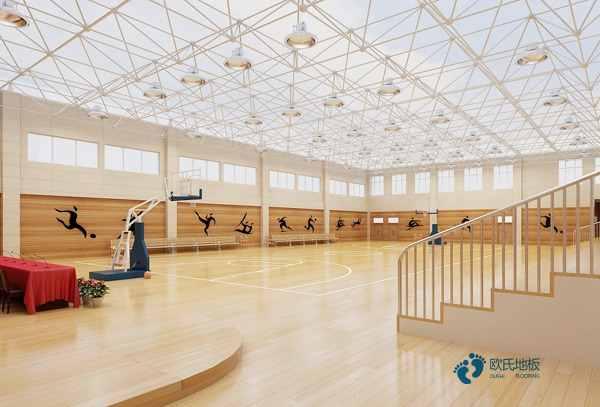 进口篮球场木地板厚度