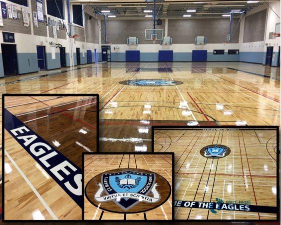 高端运动篮球地板安装公司
