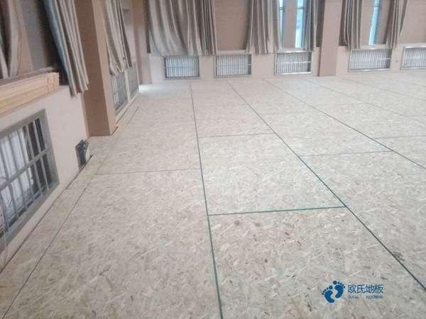 高端运动篮球木地板安装公司
