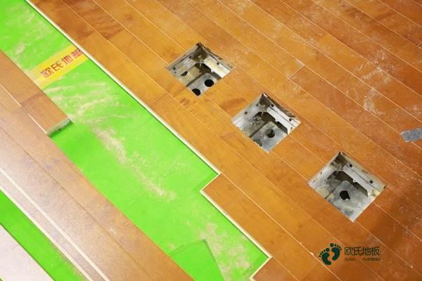 室内篮球场枫木地板1
