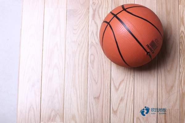 硬木企口运动篮球地板单层龙骨结构