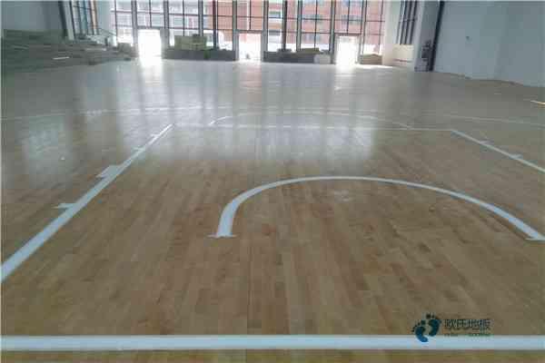 兰州专业篮球场地板施工