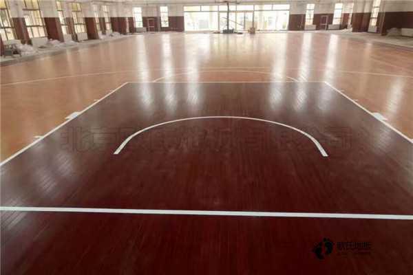 单龙骨体育场馆木地板环保