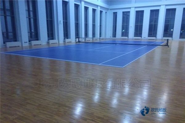 单龙骨体育篮球木地板保养知识
