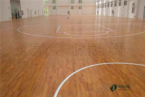国内篮球馆木地板厚度