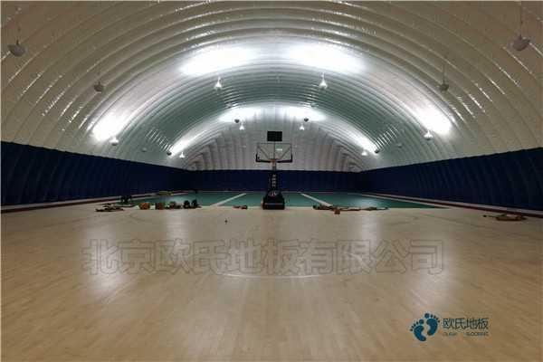 单龙骨篮球体育地板怎样保养