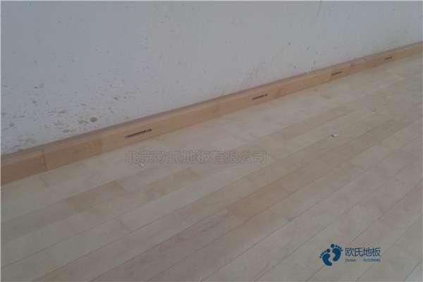 赛事篮球馆木地板安装工艺
