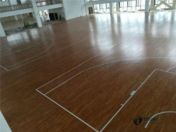 硬木企口篮球场木地板品牌厂**