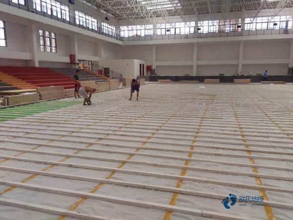 南宁硬木企口体育木地板施工工艺