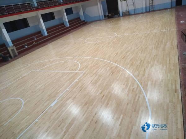 运动场木地板施工工艺流程1