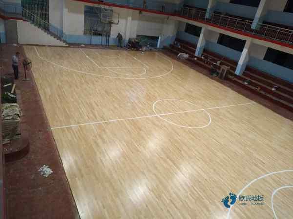运动场木地板施工工艺流程3