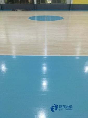 单龙骨篮球运动木地板怎样保养