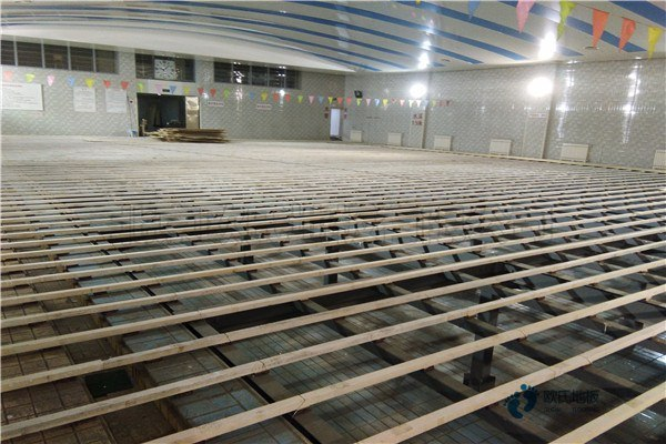 运动篮球馆木地板厂家3