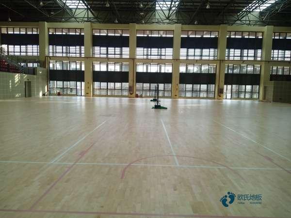 硬木企口篮球场实木地板板式龙骨结构
