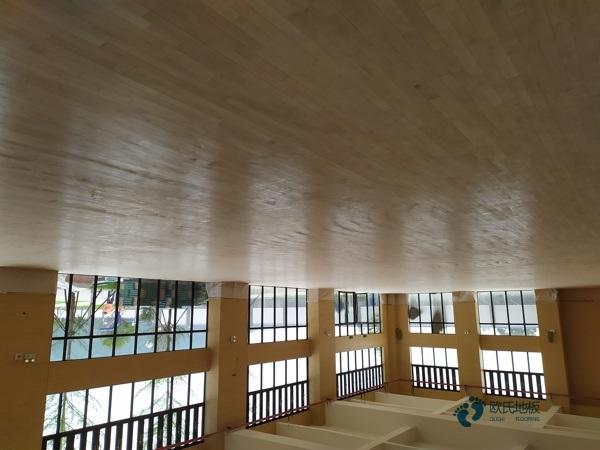 枫木运动实木地板保养