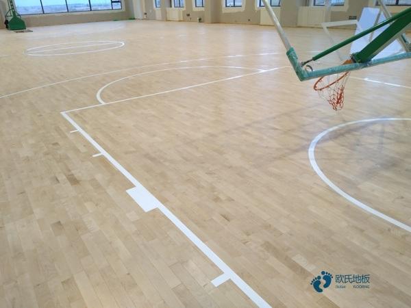 枫桦木篮球馆木地板多少钱一平米?