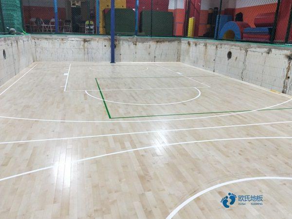 大型篮球地板施工方案