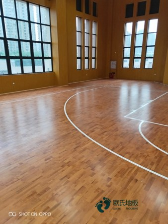 指接板篮球场实木地板板式龙骨结构