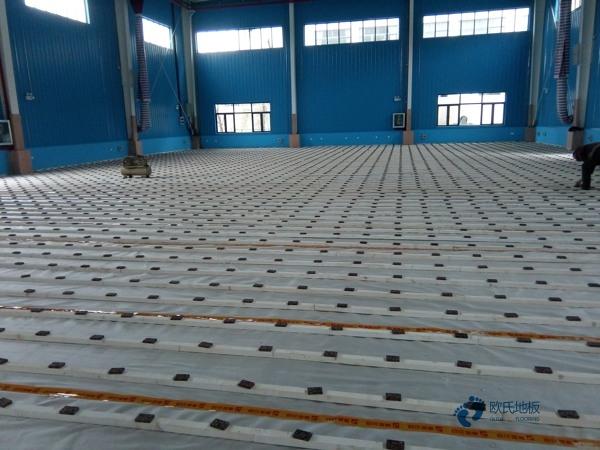 学校运动木地板施工