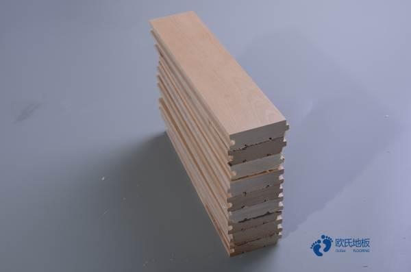 银川柞木实木运动地板直销