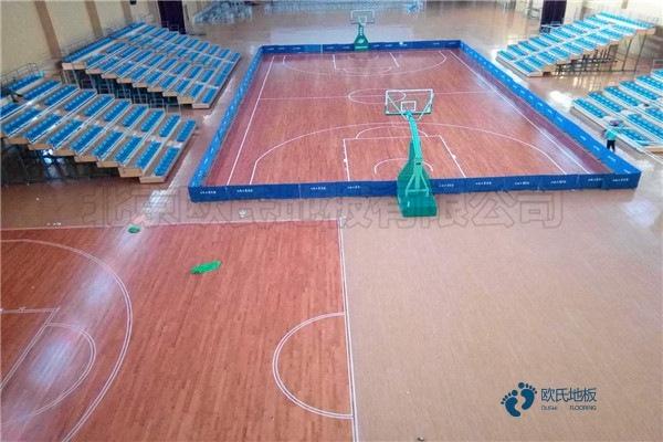 20厚篮球馆木地板结构