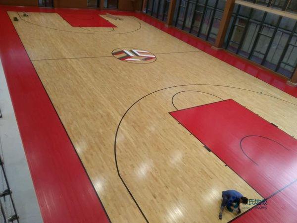国内篮球场地板维修