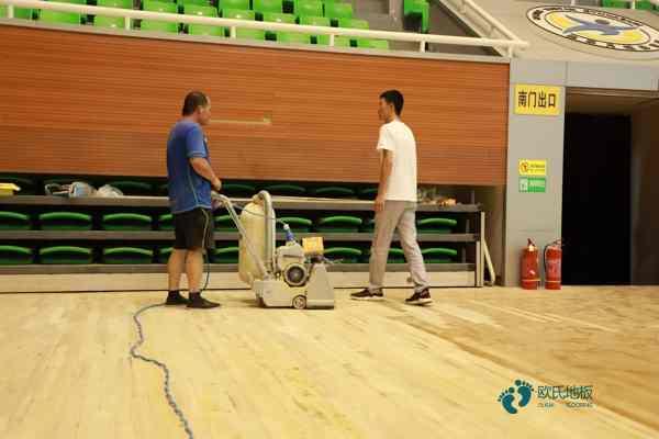 拼接板乒乓球馆木地板双层龙骨结构