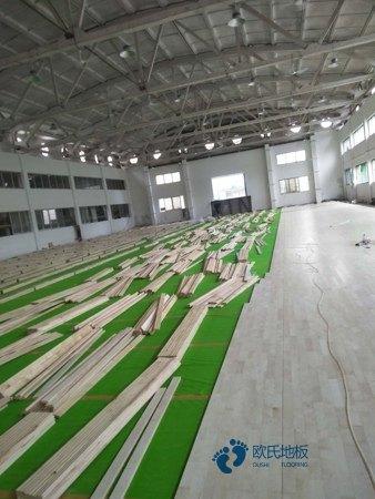 长春硬木企口运动木地板怎么安装