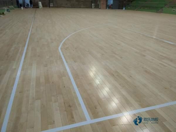 学校篮球场木地板耐磨层