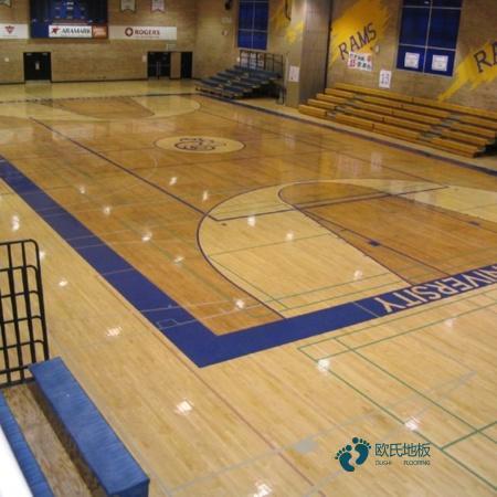 训练场馆运动木地板批发