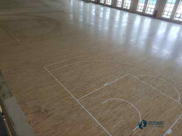 松木篮球馆木地板双层龙骨结构