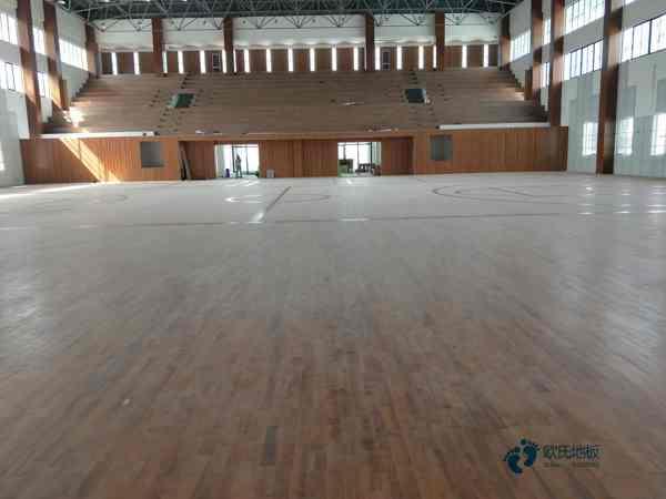 硬木企口木地板篮球馆板式龙骨结构