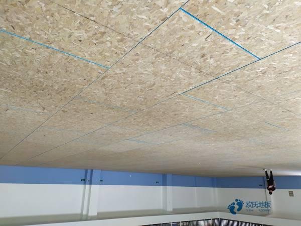 室内篮球场木地板安装