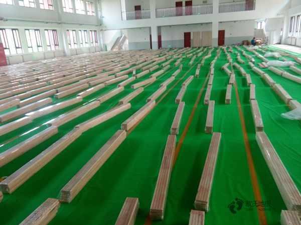 拼接板舞台运动木地板主辅龙骨结构