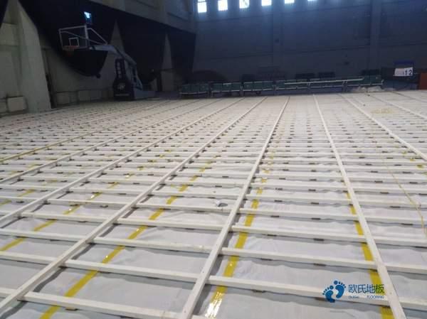 悬浮运动篮球木地板施工方案