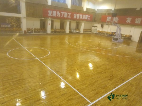 篮球木地板构造