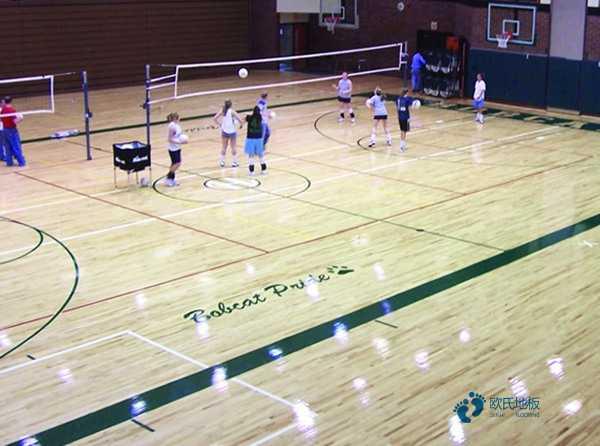 篮球馆木地板如何铺