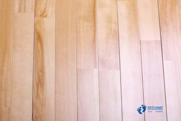 柞木篮球场地板保养