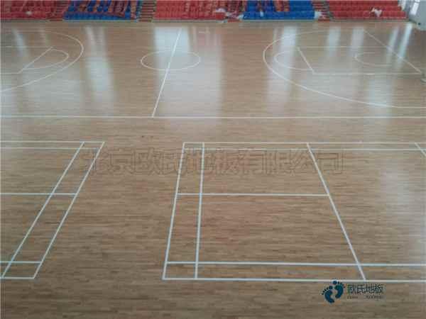 20厚运动篮球木地板厂家报价