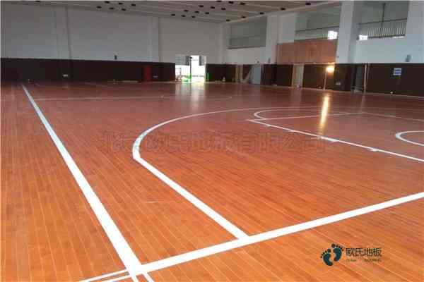 45度斜铺龙骨篮球场馆木地板安装公司