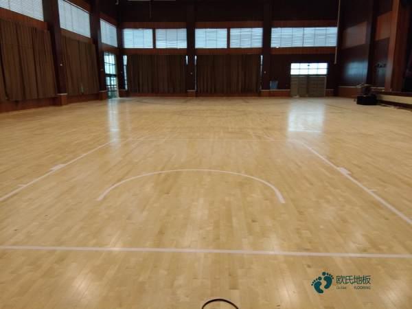 一般体育篮球地板施工