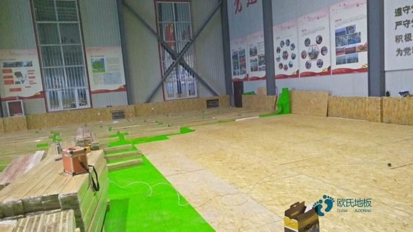一般篮球体育木地板施工团队