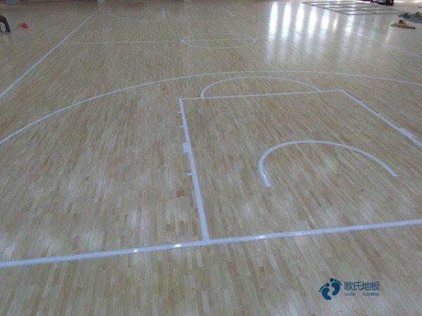 一般篮球场地地板施工队