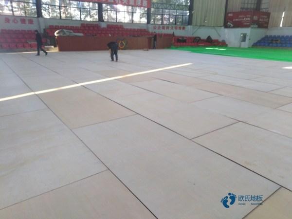 一般篮球场馆木地板施工方案