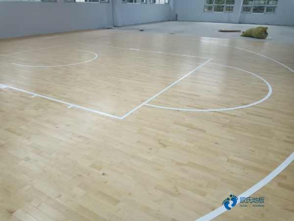 一般篮球运动地板施工团队