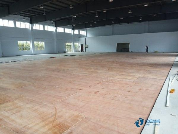 一般运动篮球地板施工队