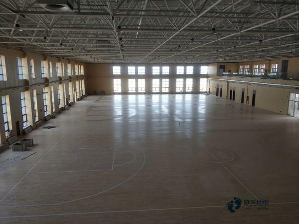 专用体育场木地板施工工艺