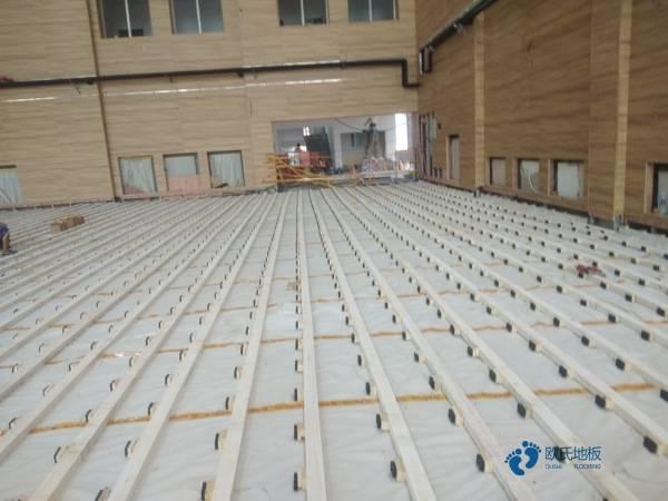 专用运动地板施工流程