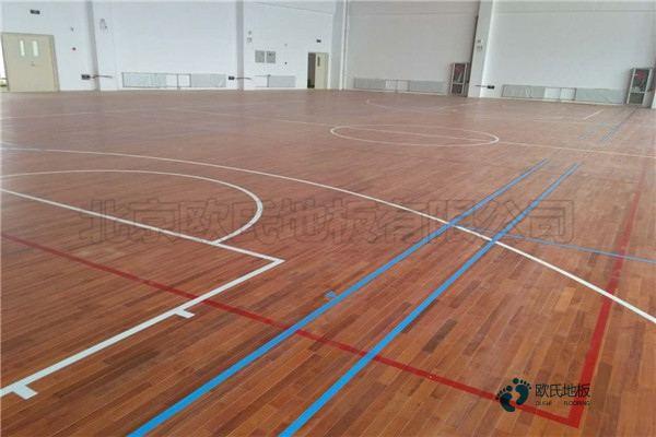 中等篮球场地木地板施工队